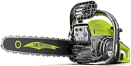 LXNQG Motosierra, motosierra de gasolina 66 cm de longitud de la espada 50-60 cm de diámetro de corte Lubricación automática de cadena y tensión que incluye la protección de las manos y el freno del s
