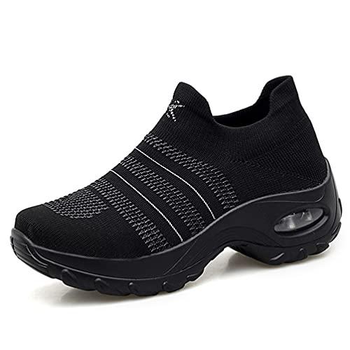 Zapatos mecedores de Malla Tejida para Mujer Zapatillas Lige