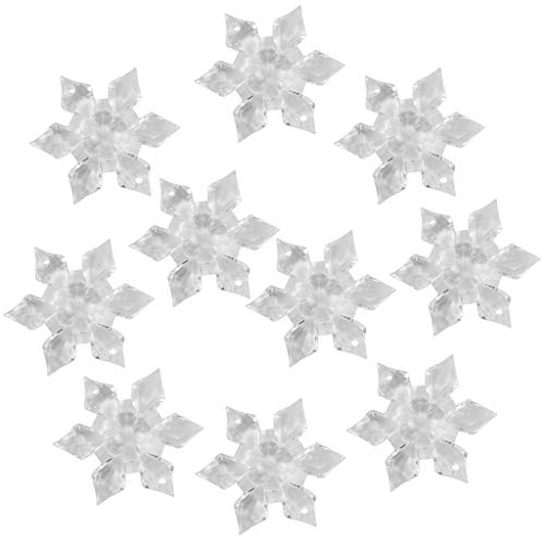 SDENSHI 10 adornos de boda de confeti con cristales de nieve de acrílico transparente