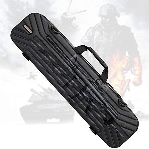 TBDLG Caja Impermeable, Gun Case con Impermeable, Mango de Goma, Antiarañazos, Estuche Rígido para Pistola de Agua, Pistola de Aire Comprimido, Tiro Deportivo (35.4 * 7.9 * 5.1in)