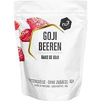 nu3 Bayas de Goji Premium - 500g Superalimento de moda - Secadas naturalmente sin sulfato - Ideal para el desayuno - Ayuda a fortalecer el sistema inmunológico - Contiene vitaminas y minerales