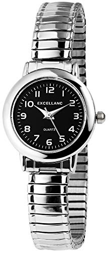 Excellanc Damen - Uhr Zugarmband Metall Analog Quarz 17042100003