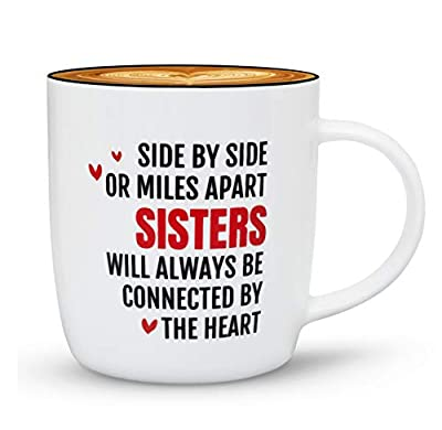 Triple Gifffted Best Sister Ever Coffee Mug, Gifts Ideas For Sisters From Sister, Birthday Valentines Christmas Mothers Day Gift My Twin Big Little Older Sister, Rakhi, Side by Side Sisters Mugs