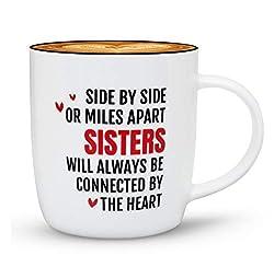 Triple Gifffted Beste Schwester Kaffeetasse, Tasse Geschenke für Schwestern Geburtstag, Becher Mit Spruch Geschenk, Weihnachten | Valentinstag Geschenkideen, Muttertag, 380 Ml V1