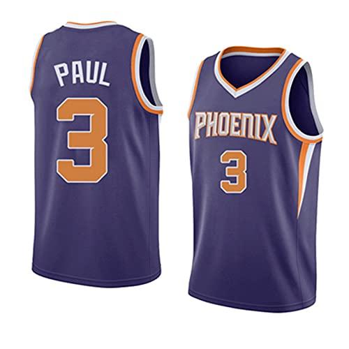 CGXYHLZ Chris Paul # 3 - NBA Phoenix Suns Jersey Hombres Adultos Baloncesto Jersey Transpirable Resistente al Desgaste Camiseta para Hombre, Unisex Camiseta Deportiva Sin Mangas