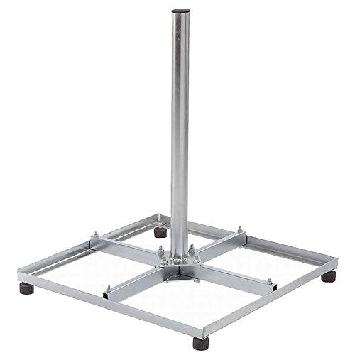 HB Digital Balkonständer aus Stahl mit 1m Länge und 42mm Breite (Durchmesser) passend für 4X Gehwegplatten 50cmx50cm für SAT-Anlagen Mastrohr Balkonstaender