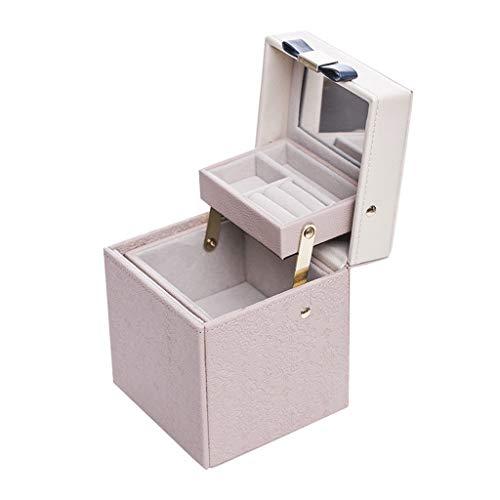Caja Joyero Caja de Joyas Caja de joyería de Gran Capacidad de Estilo Europeo Caja de joyería Simple Pendientes Anillo Collar Pulsera Caja de Almacenamiento Ewelry Organizer