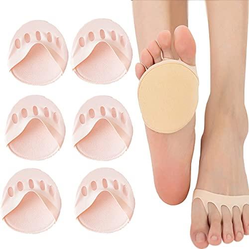 JGHGO Comfortable Non-Slip Corrective Toe Socks Women High Heels Sandal Invisible Half Footie Open Toe Socks (Pink)