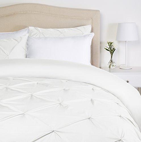 Pinzon - Bettwäsche-Set mit Quetschfalten, 135 x 200 cm - Weiß