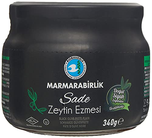 MARMARABIRLIK OLIVE PASTE - PLAIN 340 G / 12 OZ SADE ZEYTIN EZMESI