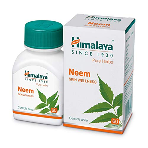 Himalaya Wellness Pure Herbs Neem Skin Wellness | Controls acne | Tablets - 60 Count