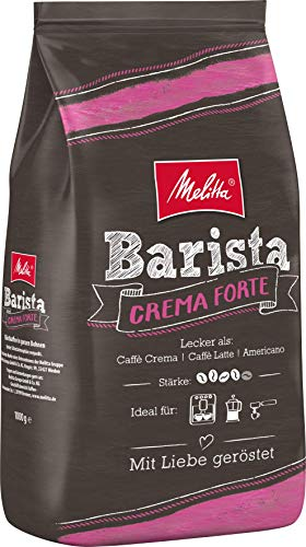 Melitta Ganze Kaffeebohnen, kräftig und vollmundig, Stärke 4, Barista Crema Forte, 1kg