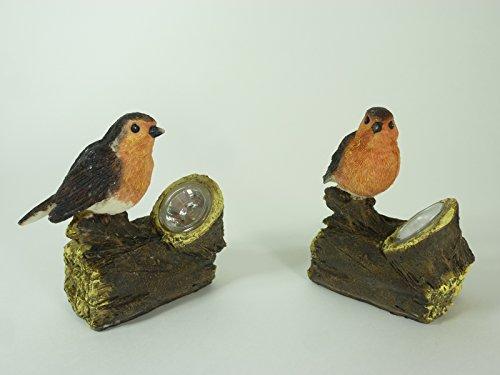 """2 x Solarleuchte\""""Vogel auf dem Baumstamm\"""" Solar-Stick Solar-Gartenleuchte Solar-Garten-Balkon-Terrassen-Blumentopf-Blumenbeet-Dekorations-Weihnachts-Leuchte"""