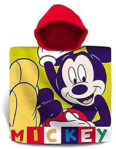 Disney - Poncho de baño para niños, diseño de Mickey Mouse