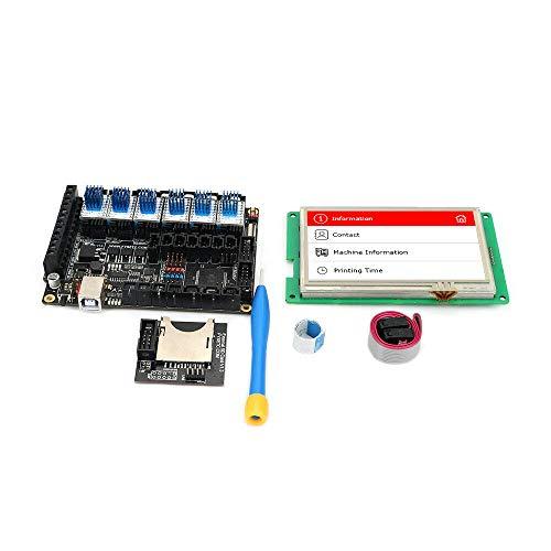 FYSETC F6 V1.3 Board, 3D-Drucker Mainboard, 8bit, 3 Extruder, mit/ohne TFT-Disp. (nur F6 board mit Steckern)
