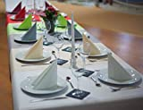 Sensalux Tischdeckenrolle, 1,18m x 25m, abwaschbare Vliesdecke, Oeko-TEX Standard 100 - Klasse I Zertifiziert, Grau - 5