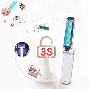 Ultraviolet Germicidal Lamp Portatile UV Light Sterilizer Anti-Bacterial Rate 99/% Mobile Ultraviolet Disinfection Lamp Wand Sterilization for Car Household School Hotel Pet Small UV Lights