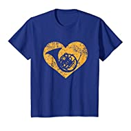 I Love French Horn Heart Shirt Funny Marching Band Jazz Gift