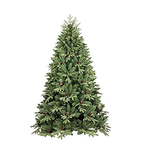 """Dmora Albero di Natale """"Stella"""", Altezza 180 cm, Con pigne incluse, 839 rami, 122 x 122 x 180 cm"""
