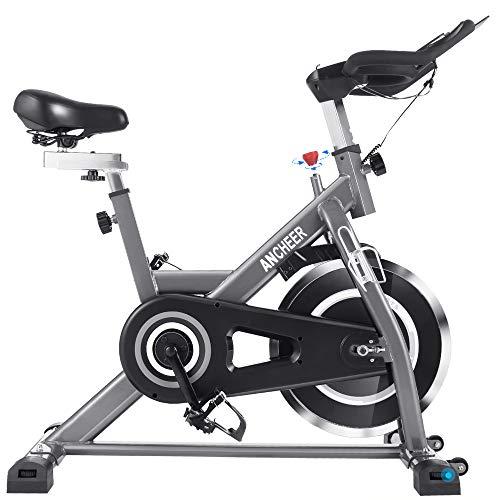 ANCHEER Heimtrainer Fahrrad Ergometer Hometrainer Testsieger, Indoor Zuhause Leise Riemenantrieb