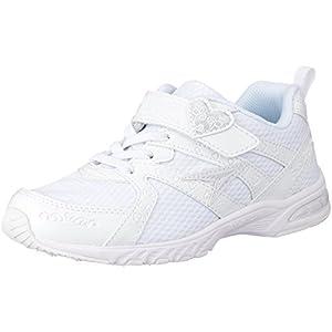 [シュンソク] スニーカー 通学履き 軽量 白 19cm~24.5cm 2E キッズ 女の子 LEJ 4270