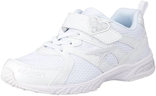 [シュンソク] スニーカー 通学履き 軽量 白 19cm~24.5cm 2E キッズ 女の子 LEJ 4270 ホワイト/ホワイト 21.5cm