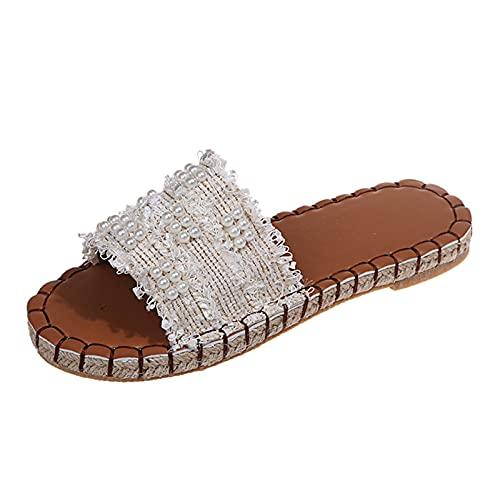 Briskorry Sandalias para mujer, bohemias, para jardín, playa, ocio, deporte y exterior, sandalias de cuña, cómodas, planas