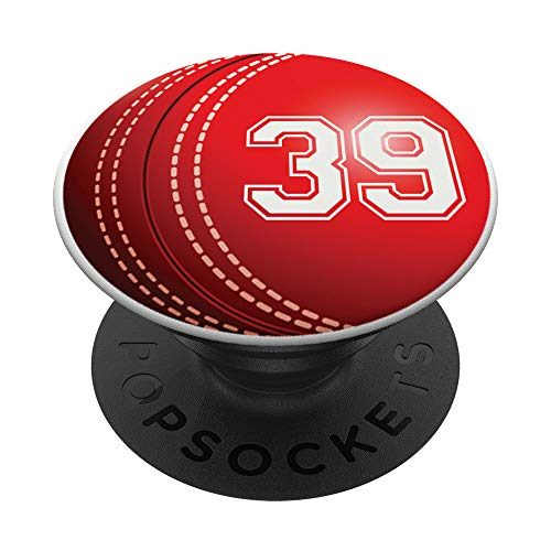 Cricket #39 Cricket Player Trikot Nr. 39 Handy Griffe Gesche - PopSockets Ausziehbarer Sockel und Griff für Smartphones und Tablets