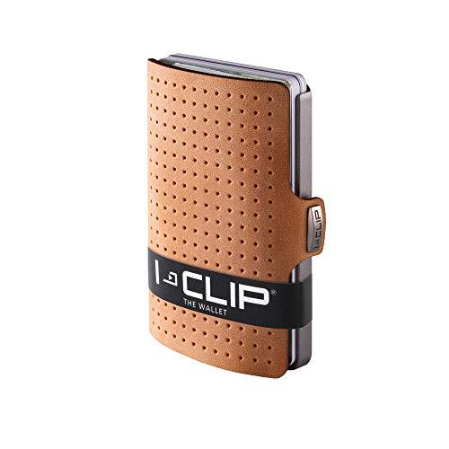 I-CLIP ® Portafoglio AdvantageR Caramello, Metallic-Grey (Disponibile In 8 Versioni)