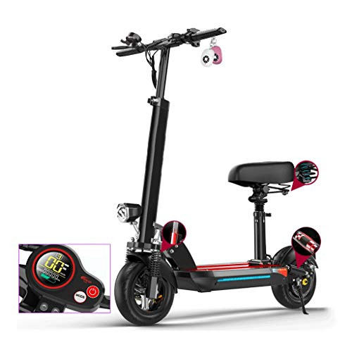 Find Discount Folding Electric Scooter with Removable Seat & Adjustable Handlebar, LCD Display Fixed...