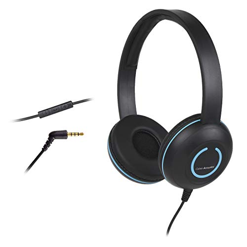 20 Pack Cyber Acoustics Lightweight On-Ear Headphones/Headset with Noise canceling Microphone and in-line Volume/Play/Pause Controls and 3.5mm Plug (AC-5010)