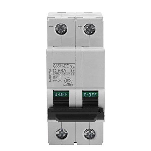 Interruptor solar 16A / 32A / 63A de la energía del disyuntor de circuito del aire miniatura de baja tensión de 250V DC 2P(63A)