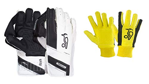 KOOKABURRA Premium 850L Wicket Keeping Gloves & Padded Cotton Inners Included ' Men's Size
