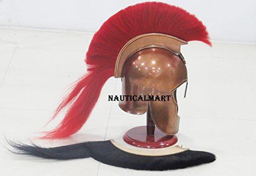 Nauticalmart Aquiles Troy casco con rojo y Penachoacabado en cobre