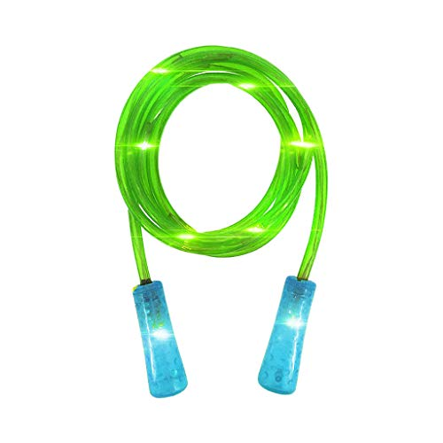 BOLANQ Vêtements LED leuchtende Farbe ändern Springseil buntes Muster Blitz leuchten Light Up Springseil Multi Color Glow Kinder Erwachsene Fitness Outdoor-Übung