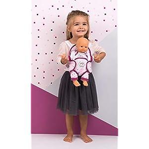 41bmTNHeQdL. SS300  - Smoby portabebés Baby Nurse Mochila para Portar Muñecos Bebé, Color Rosa, Talla Única (220351)