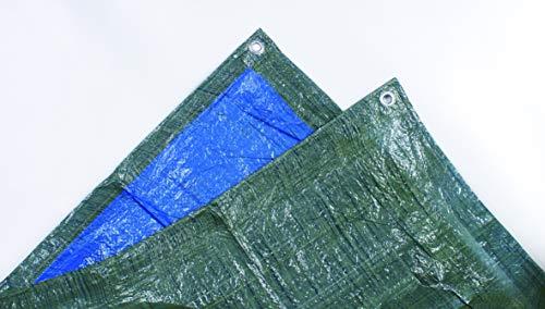 Tec Hit 890300 étanche-Couverture extérieure-bâche de Protection 5 mètres x 8 mètres-890300, Bleu/Vert, 5 x 8