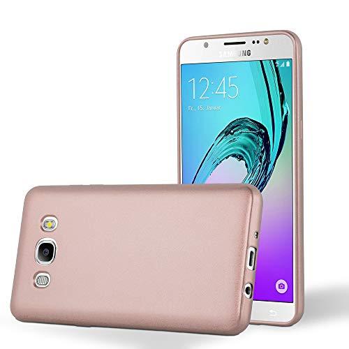 Cadorabo Hülle für Samsung Galaxy J7 2016 in METALLIC ROSÉ Gold - Handyhülle aus flexiblem TPU Silikon - Silikonhülle Schutzhülle Ultra Slim Soft Back Cover Hülle Bumper