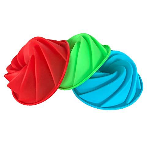 rongweiwang Molde de Silicona DIY Espiral Torta de Gasa de Hornear Galletas de la Galleta Herramienta de la Torta Galletas de la hornada 7.5inch Color al Azar