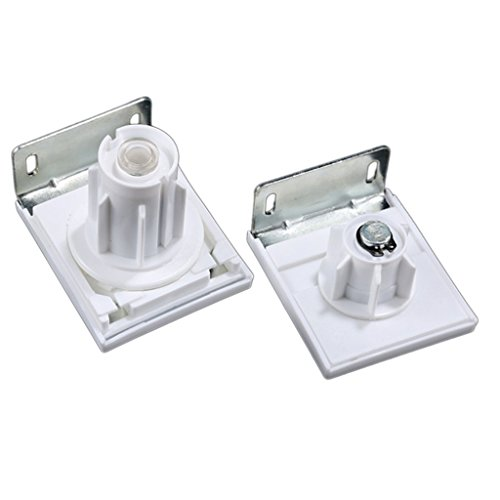 homozy Roller Blinds Replacement Control Bracket Clutch Parts for 38mm Tubing Shade - White