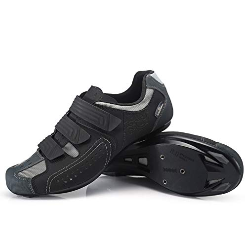 GUARDUU Herren Fahrradschuhe Damen Atmungsaktiv Rutschfester Specialized MBT Schuhe Rennradschuhe Mit Verriegelungsplatte Befestigungsloch,Schwarz,36(US:4)