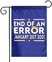 エラーの終わり2021年1月21日ガーデンフラッグ12x18両面ファーム芝生屋外装飾ガーデンバナー