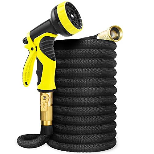 Aterod 50FT Garden Hose Expandable Hose, Flexible Water Hose with Spray Nozzle, Car Wash Hose with...