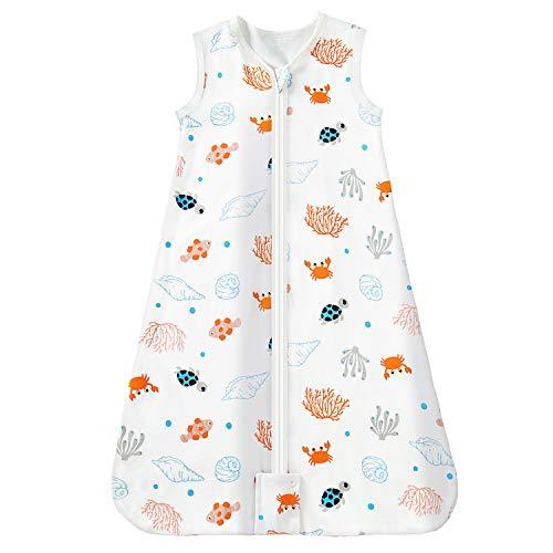 Mosebears Saco de dormir Saco de dormir de verano para bebé 0.5 Saco de dormir de bebé Tog Saco de dormir de bebé transpirable 100% algodón