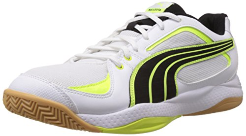 PUMA Ballesta White-Black-Fluro Yellow Gr. 44