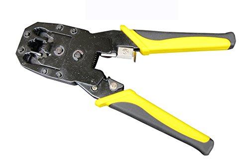 Cortadora-peladora-crimpadora modular, herramienta de pelado, corte y crimpado de 8P/RJ45, 6P/RJ12, 4P/RJ11, incluida Minipelador cortador perforador, herramienta peladora crimpadora de red.