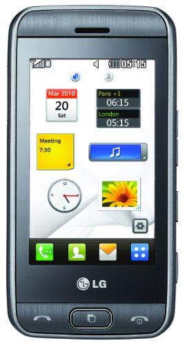 LG GT400 Pathfinder Smartphone (7,6 cm (3 Zoll) Bildschirm, Touchscreen, 5 Megapixel Kamera)  lite titan
