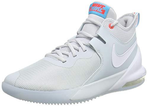 Nike Men's Air Max Impact Basketball Shoe, Pure Platinum/White-Blue Fury, 8.5 UK