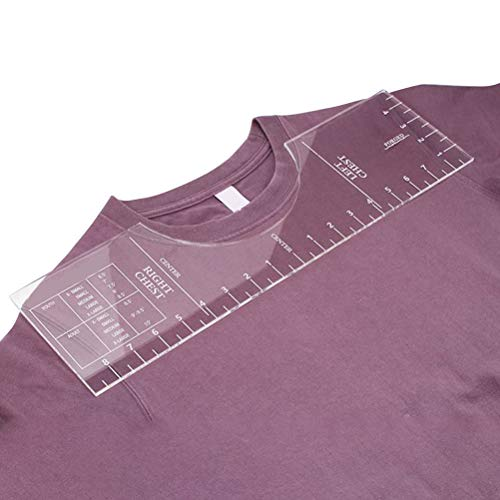 Bestice T-Shirt HTV Vinyl Alignment Lineal Tool/Guide, für Vinyl Cut oder T-Shirt Vinyl Transfers Sublimation HTV Heißpressen