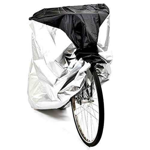 ZXLZM Funda para Bicicleta, Funda Bicicleta, 190T, Anti Polvo Resistente al Agua a Prueba de UV, para Bicicleta de Montaña y Bicicleta de Carretera, Negro + Plateado,L(190×65×98cm)